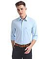 USPA Tailored Regular Fit Solid Shirt