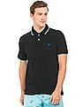 Aeropostale Tipped Cotton Pique Polo Shirt