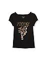 The Children's Place Girls Short Sleeve Embellished Rocker Graphic Top
