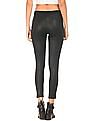 Elle Zipper Closure Panelled Pants
