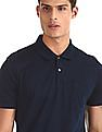 Arrow Blue Patterned Knit Regular Fit Polo Shirt