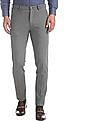 Arrow Newyork Grey Super Slim Fit Patterned Trousers