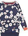 U.S. Polo Assn. Kids Girls Floral Printed Sweater Dress