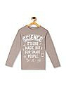 The Children's Place Beige Boys Crew Neck Graphic T-Shirt