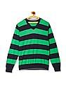 Flying Machine V-Neck Striped Sweater