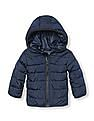 The Children's Place Boys Long Sleeve Hooded Puffer Jacket