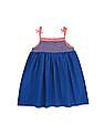 U.S. Polo Assn. Kids Girls Smocked Yoke Empire Waist Dress
